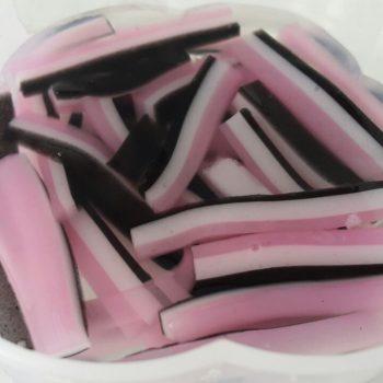 Panjang Pink Putih Hitam